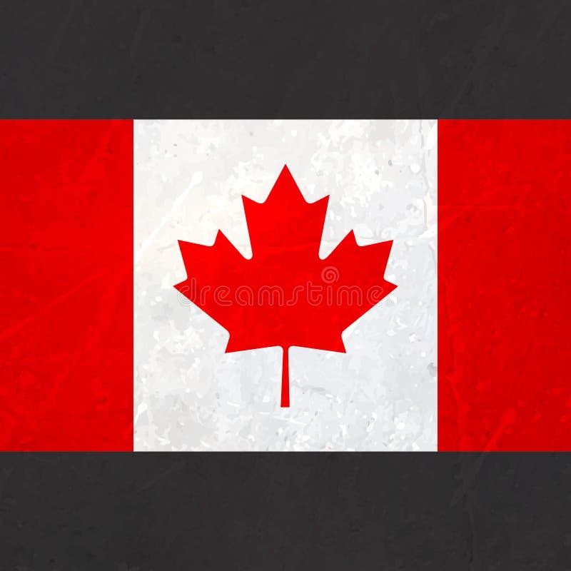 Kanada flagga med textur royaltyfri illustrationer