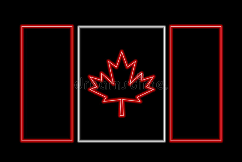 Kanada flagganeon stock illustrationer
