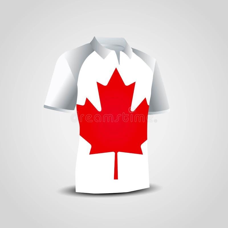 Kanada flaggaskjortor planlägger vektorn stock illustrationer
