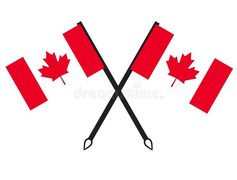 Kanada flaggasymboler royaltyfri illustrationer