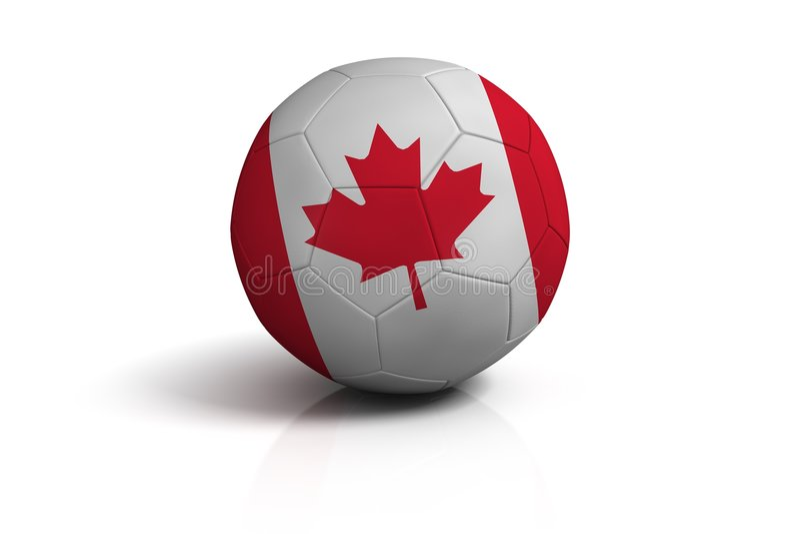 Kanada fotboll royaltyfri illustrationer