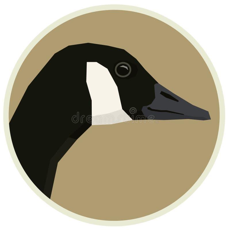Kanada g?sia Wektorowa ilustracja ptak w round ramie ilustracji