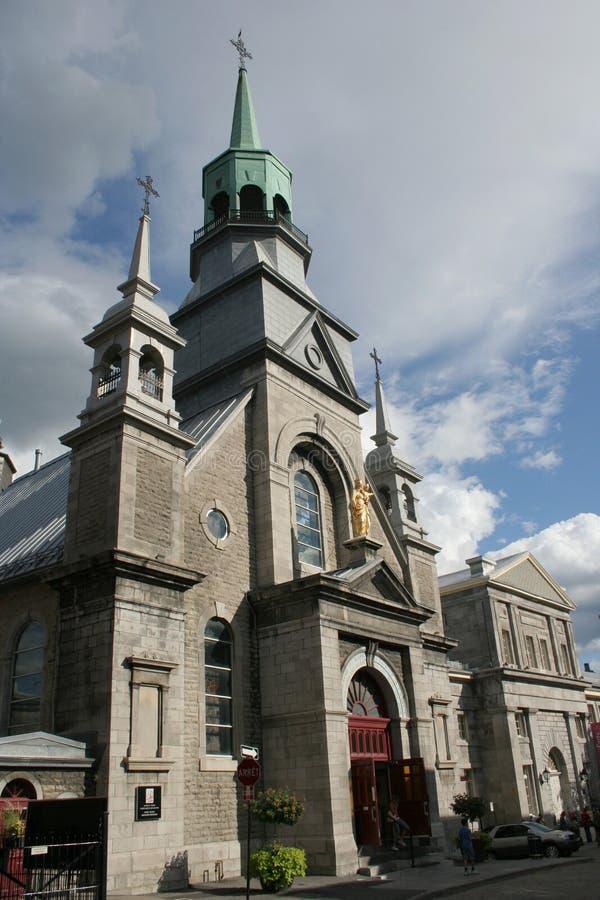Kanada gammala kyrkliga montreal arkivbild