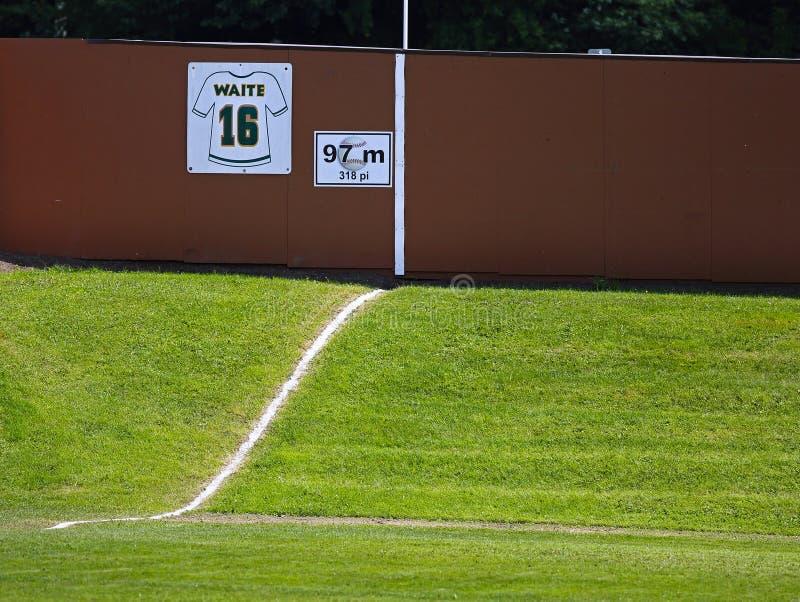 Kanada gier baseballa pola zewnętrzn wzgórza ogrodzenie obraz royalty free