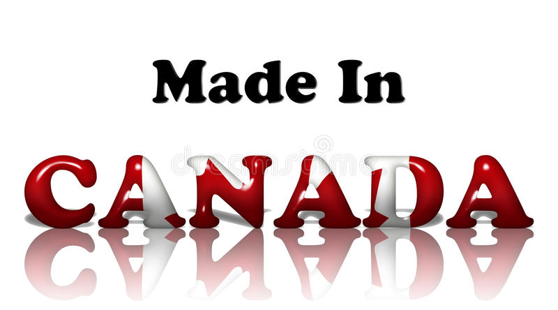 Kanada gjorde stock illustrationer