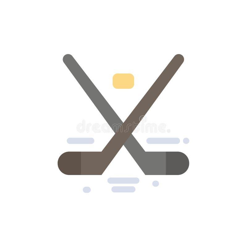 Kanada, gra, hokej, lód, Olympics koloru Płaska ikona Wektorowy ikona sztandaru szablon royalty ilustracja