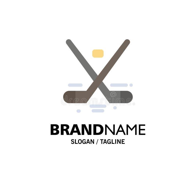 Kanada, gra, hokej, lód, Olympics logo Biznesowy szablon p?aski kolor ilustracji