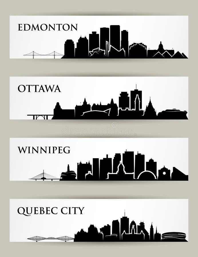 Kanada horisonter - vektorillustrationer vektor illustrationer