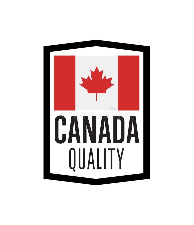 Kanada ilość odizolowywająca etykietka dla produktów royalty ilustracja