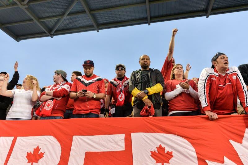 Kanada-Jamaica Men's internationell vänlig match royaltyfri bild