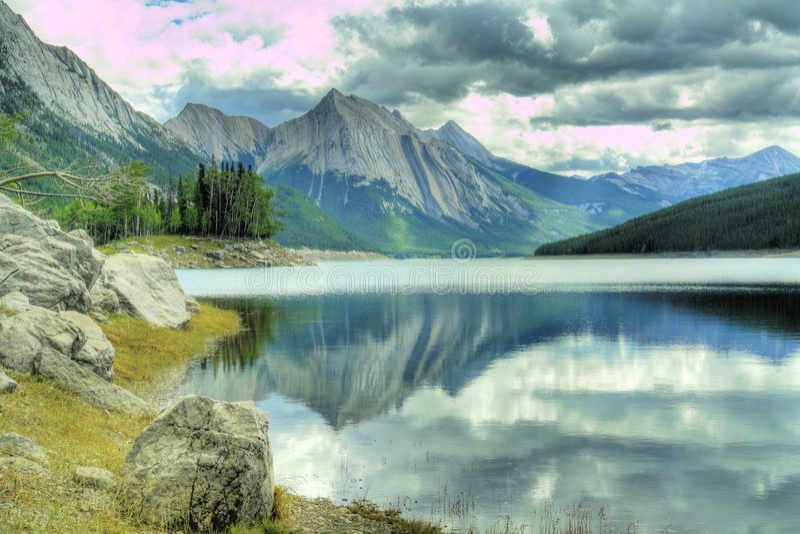 Kanada jasper royaltyfri fotografi