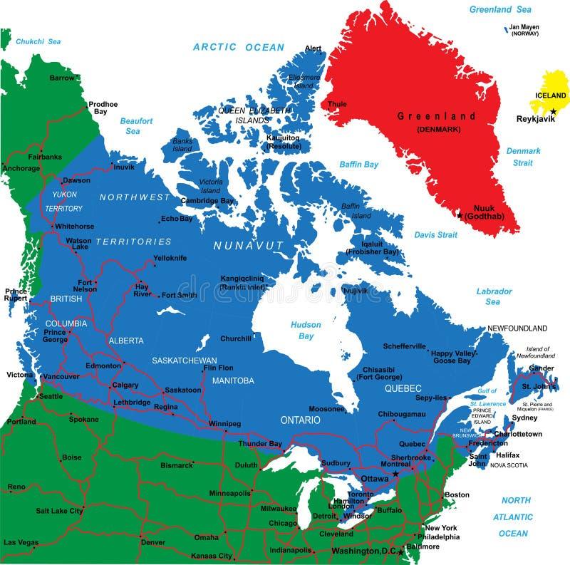 Kanada-Karte stock abbildung
