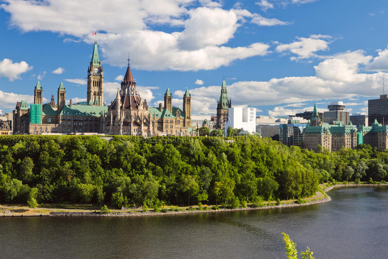 Kanada kullottawa parlament royaltyfria bilder