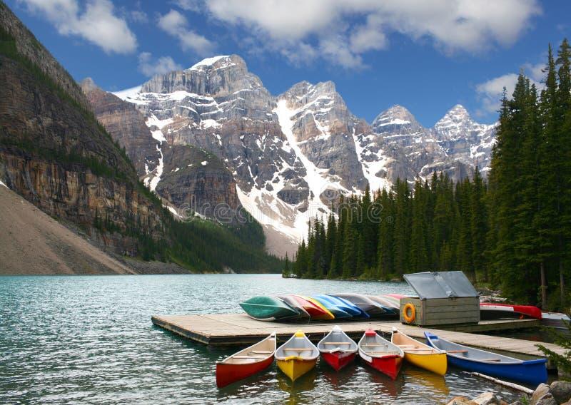 Kanada lakemoraine arkivfoton