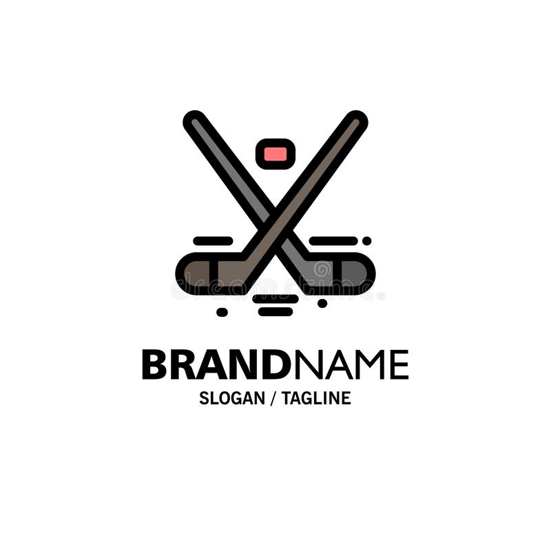 Kanada lek, hockey, is, OSaffär Logo Template plan f?rg stock illustrationer
