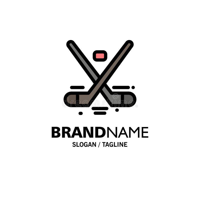 Kanada lek, hockey, is, OSaffär Logo Template plan f?rg stock illustrationer