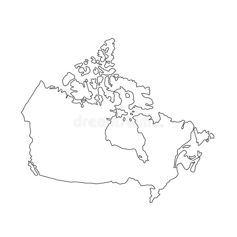 Kanada mapa - kraj w Północna Ameryka royalty ilustracja