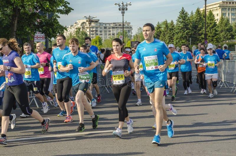Kanada maratonontario ottawa löpare royaltyfri foto