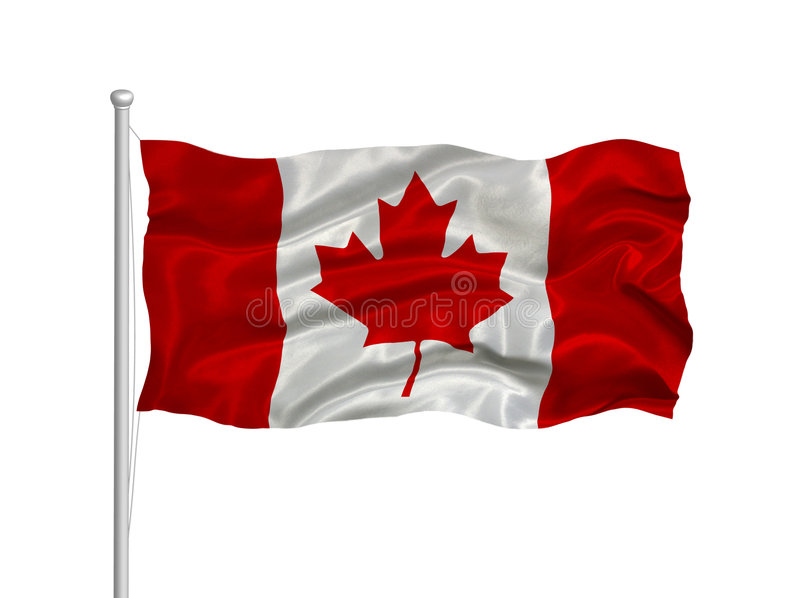 Kanada-Markierungsfahne 2 stock abbildung