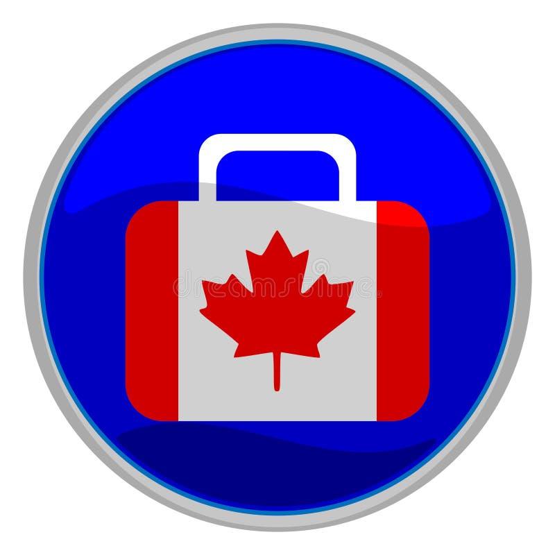 Kanada-Markierungsfahnenkofferikone stock abbildung