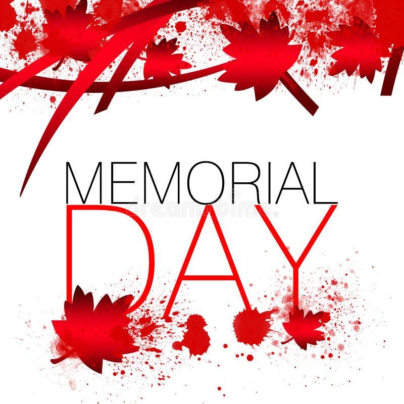 Kanada Memorial Day stock abbildung