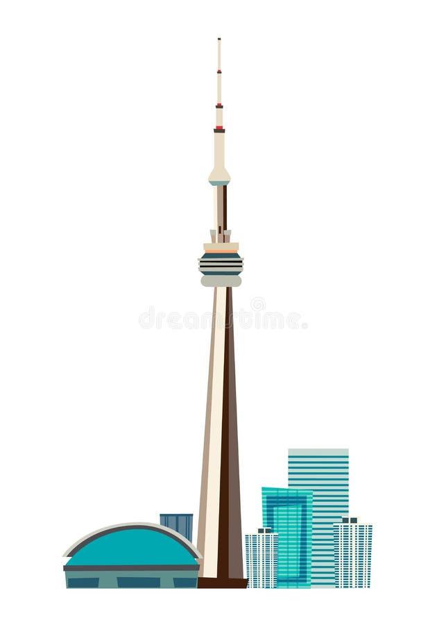 Kanada miasta linia horyzontu dooddle wektorowa ilustracja royalty ilustracja