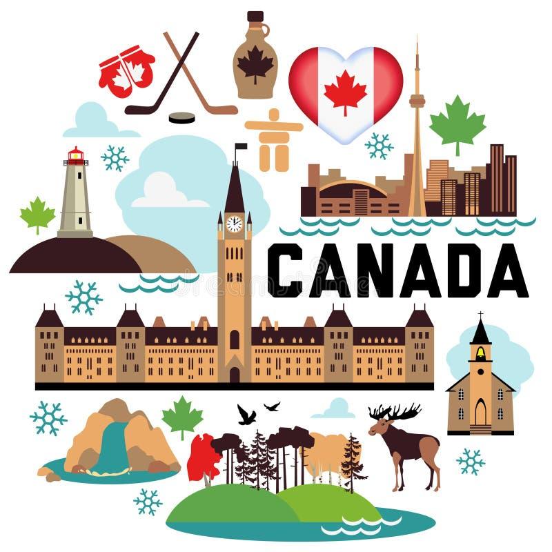 Kanada modell vektor illustrationer