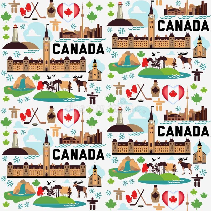 Kanada modell stock illustrationer