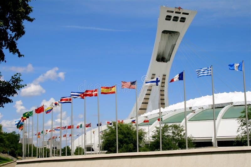 Kanada montreal olympic park royaltyfria bilder