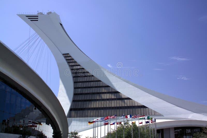 Kanada montreal olympic park fotografering för bildbyråer