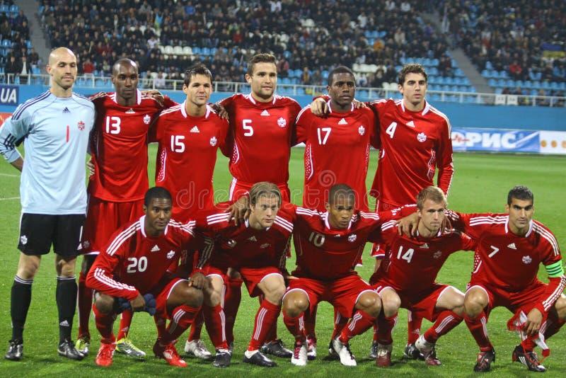 Kanada nationellt fotbolllag royaltyfria foton