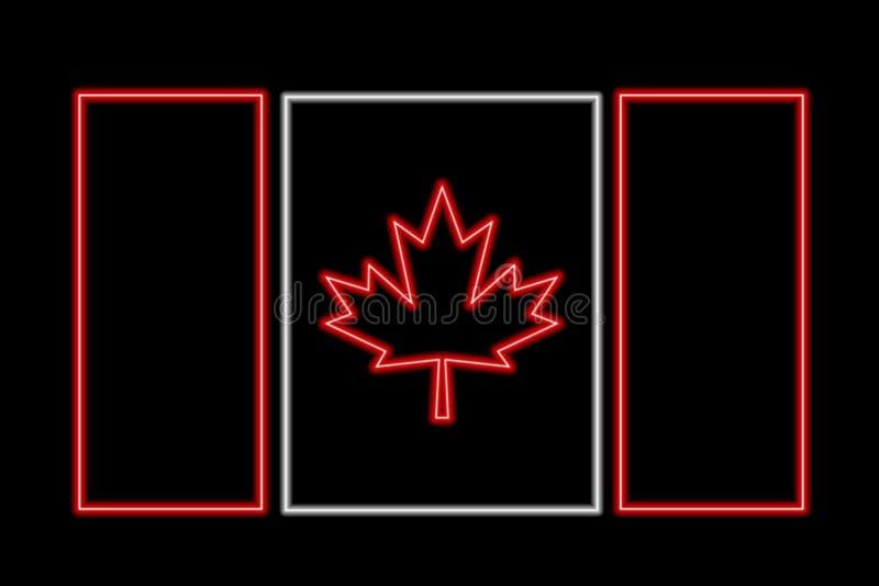 Kanada-Neonmarkierungsfahne stock abbildung
