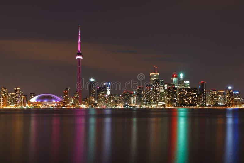 Kanada nightscape toronto royaltyfri bild