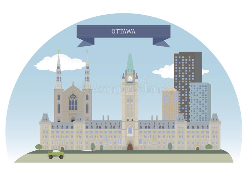 Kanada ottawa vektor illustrationer