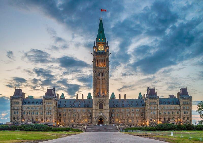 Kanada ottawa parlament arkivbilder