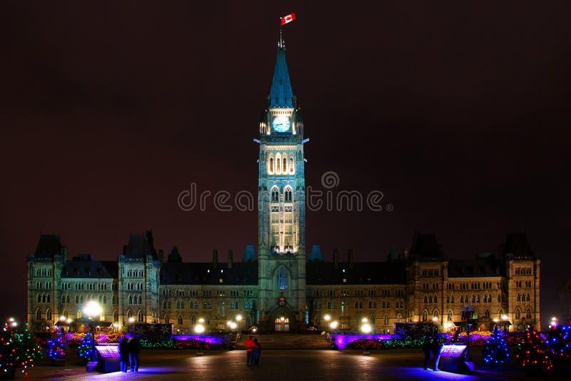 Kanada parlament royaltyfri bild