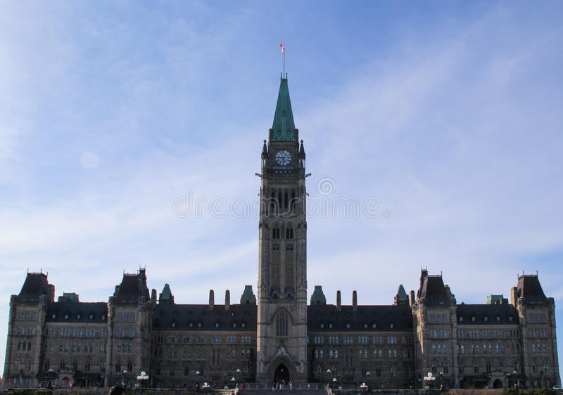 Kanada parlament royaltyfria foton