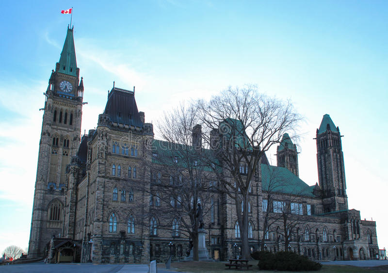 Kanada parlament arkivbild