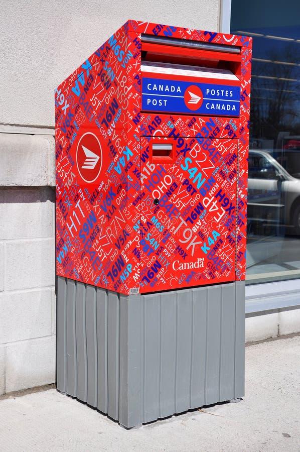 Kanada-Pfostenmailbox stockfotos