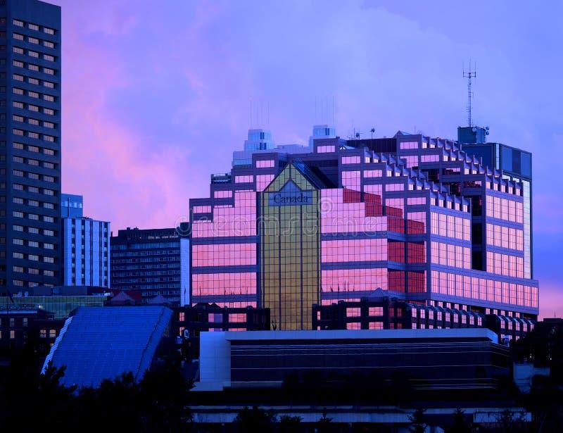 Kanada-Platz-Gebäude in Edmonton Alberta Canada lizenzfreie stockfotos