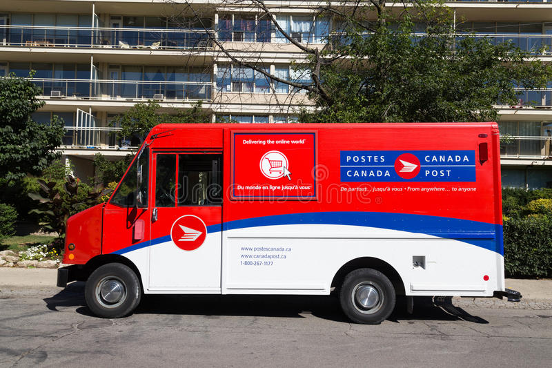 Kanada poczta Van zdjęcie royalty free
