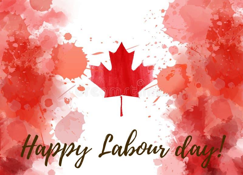 Kanada pracy szczęśliwy dzień ilustracja wektor