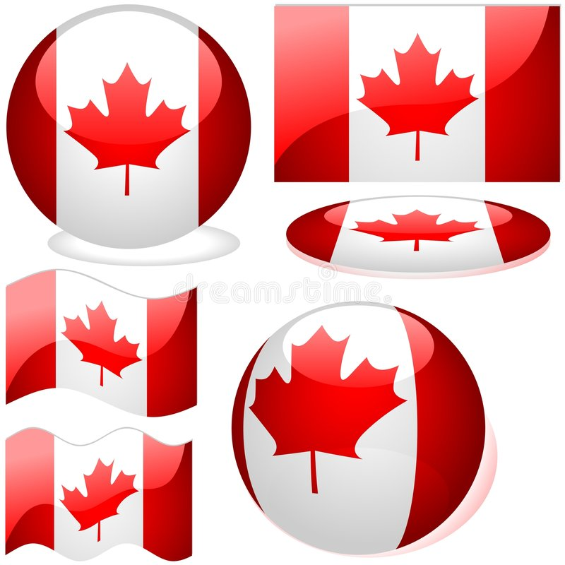 Kanada set vektor illustrationer