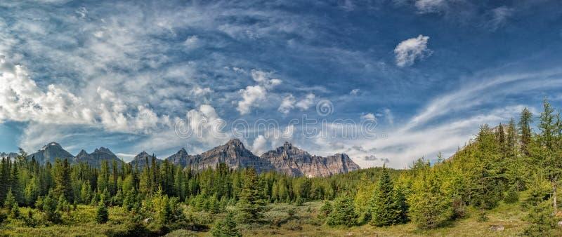 Kanada Skalistych gór panoramy krajobrazu widok zdjęcia royalty free