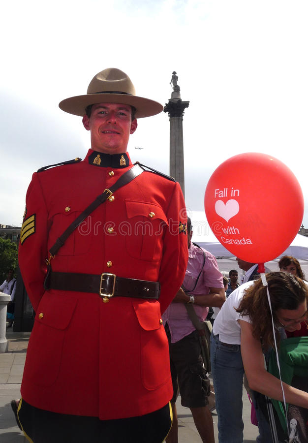 Kanada-Tag in London lizenzfreies stockbild