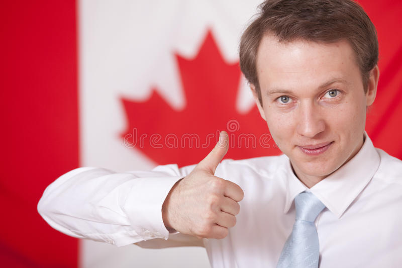 Kanada tum upp royaltyfria bilder