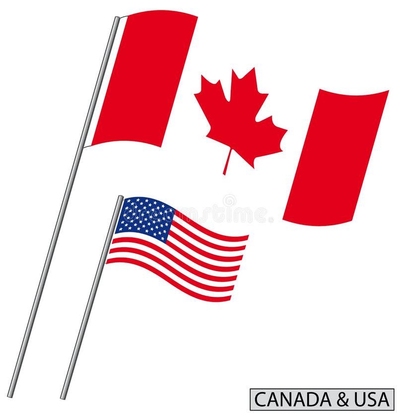 Kanada USA stock illustrationer