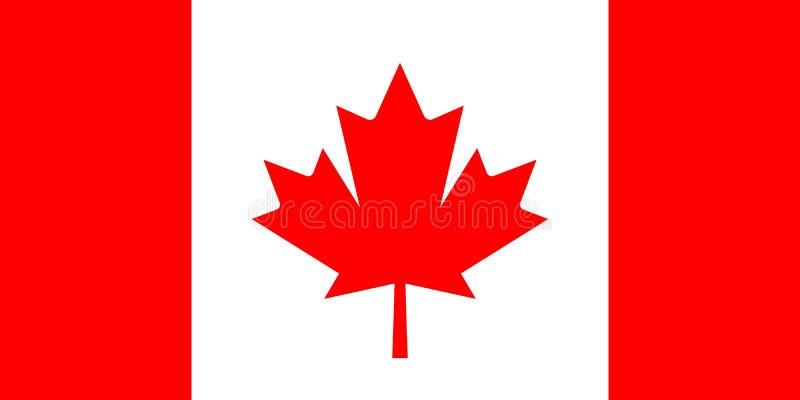 Kanada-Vektorflagge lizenzfreie abbildung