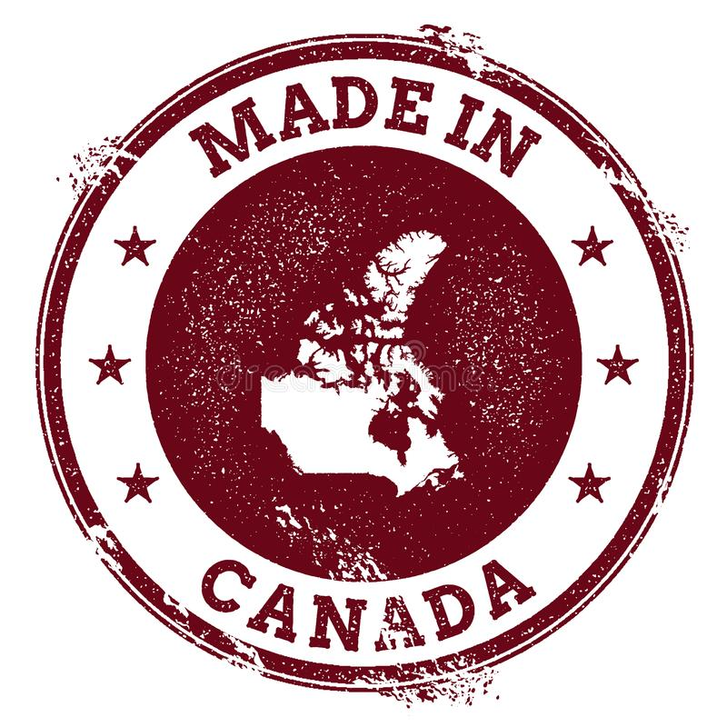 Kanada vektorskyddsremsa stock illustrationer