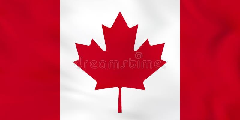 Kanada vinkande flagga Textur för Kanada nationsflaggabakgrund vektor illustrationer